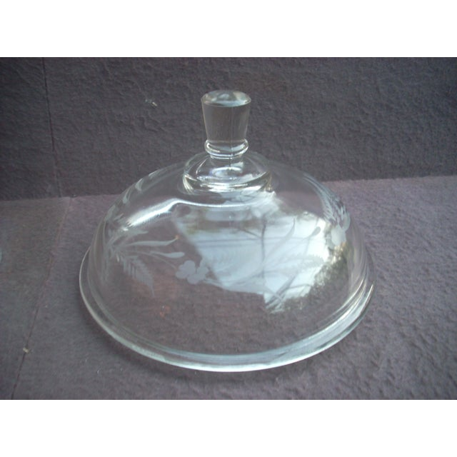 Traditional Covered Glass Compote For Sale - Image 4 of 4