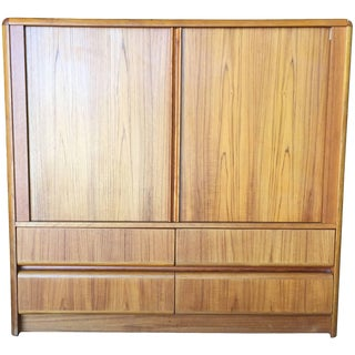 Side Rolling Front Wardrobe With Media Center, Chest of Drawers For Sale