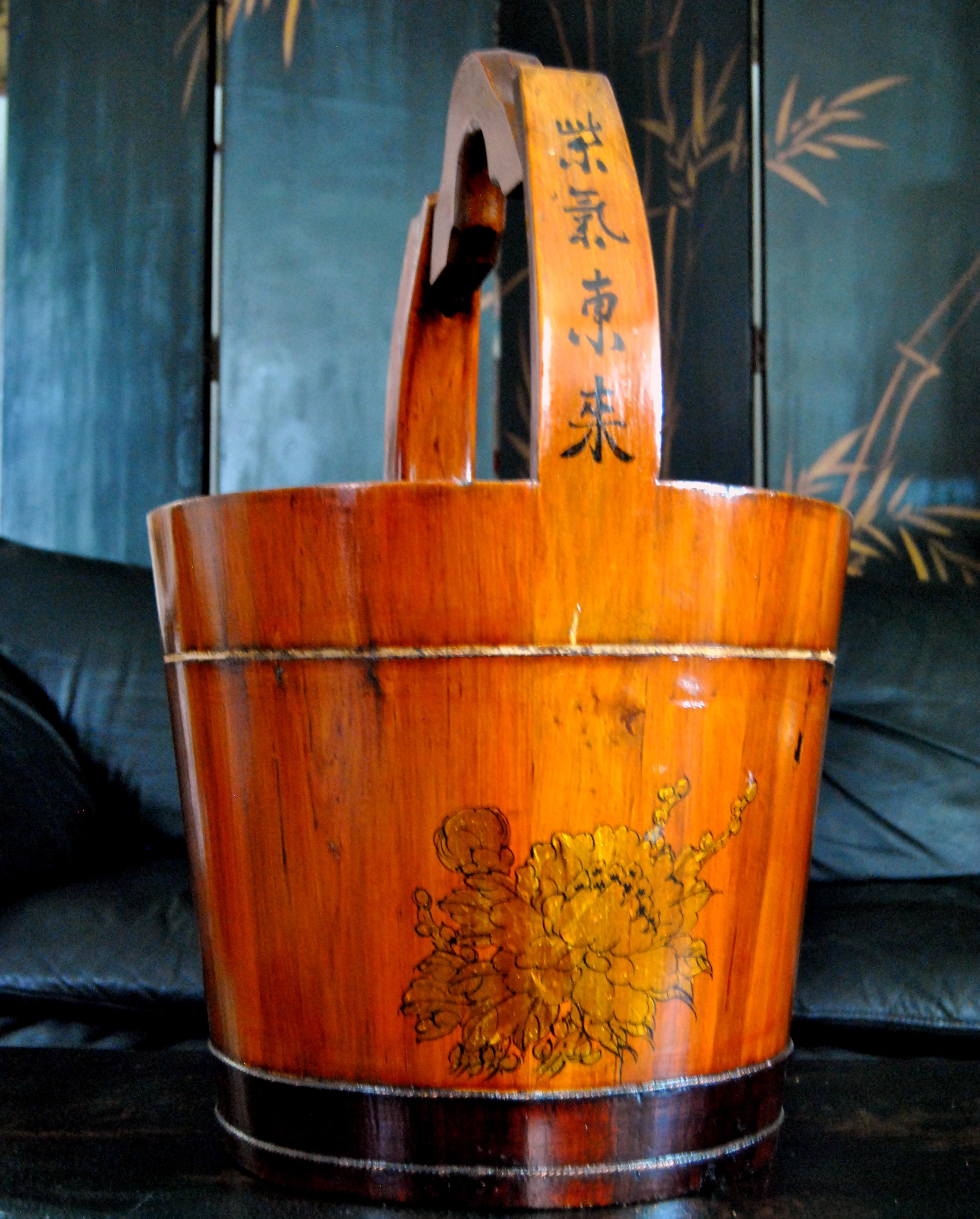 Image result for wooden bucket