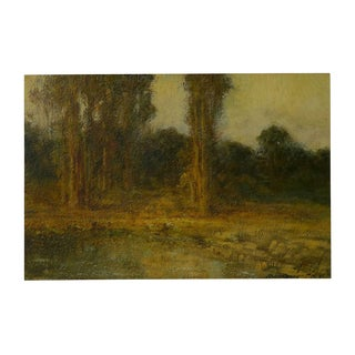 """Trees by a Pool"" Oil Landscape Painting by Ralph Davison Miller (California, 1858-1945) For Sale"