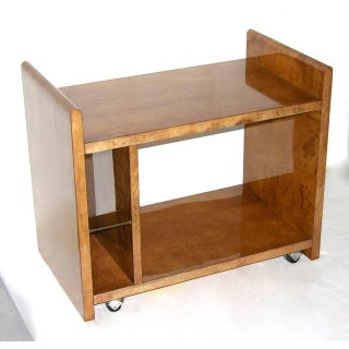 Aldo Tura Amber Goatskin Cart or Side Table Preview