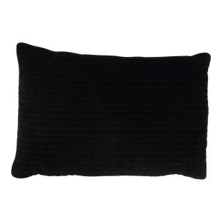 Black Velvet Oblong Accent Pillow For Sale