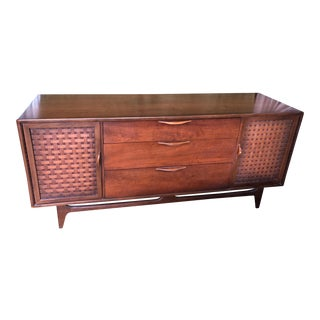 Lane Mid-Century Walnut Triple Dresser