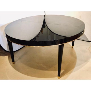 Ebony Lacquered Hollywood Regency Style Ralph Lauren Paris 1 Fifth Dining Table Preview