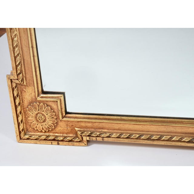 Early 20th Century Matching Pair of Giltwood Hanging Beveled Mirrors For Sale - Image 4 of 11