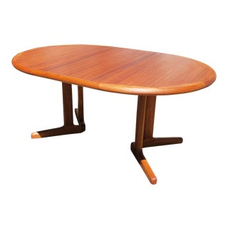 Mid Century Danish Teak Extension Dining Table For Sale