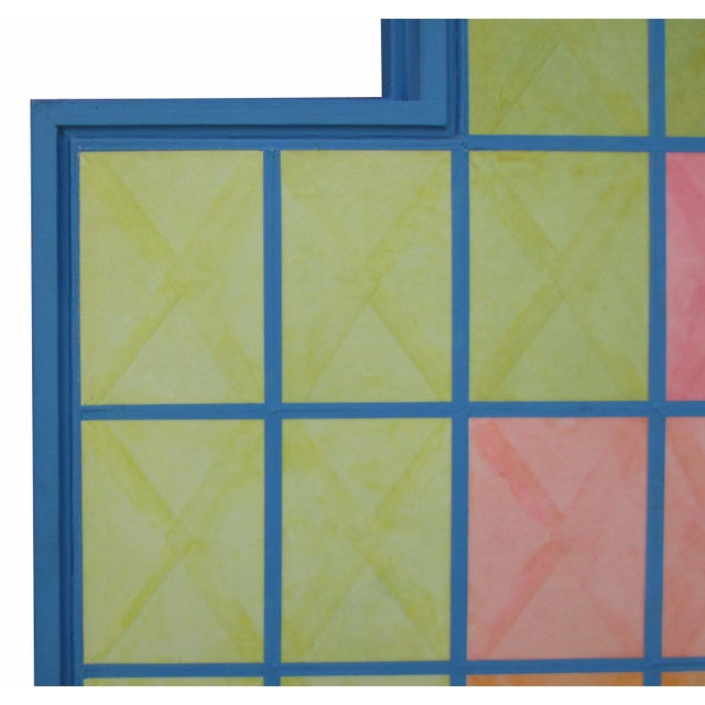 Geometric Painting by Nelson Dudley - Image 4 of 5
