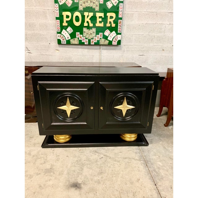 1940s Vintage French Art Deco Sideboard / Buffet / Bar For Sale - Image 4 of 13