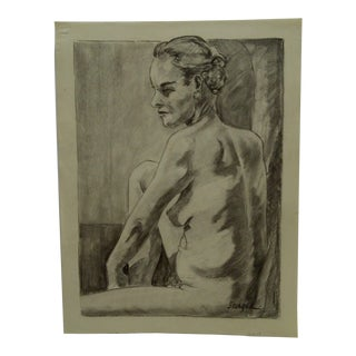 "Tom Sturges Jr. 1959 ""Nude Shoulders"" Original Drawing on Paper For Sale"