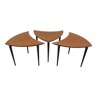 Italian Triangle-Shaped Coffee Tables, 1960 - Set of 3 For Sale