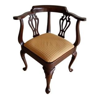 1950s Vintage Ethan Allen Georgian Cherry Corner Chair For Sale