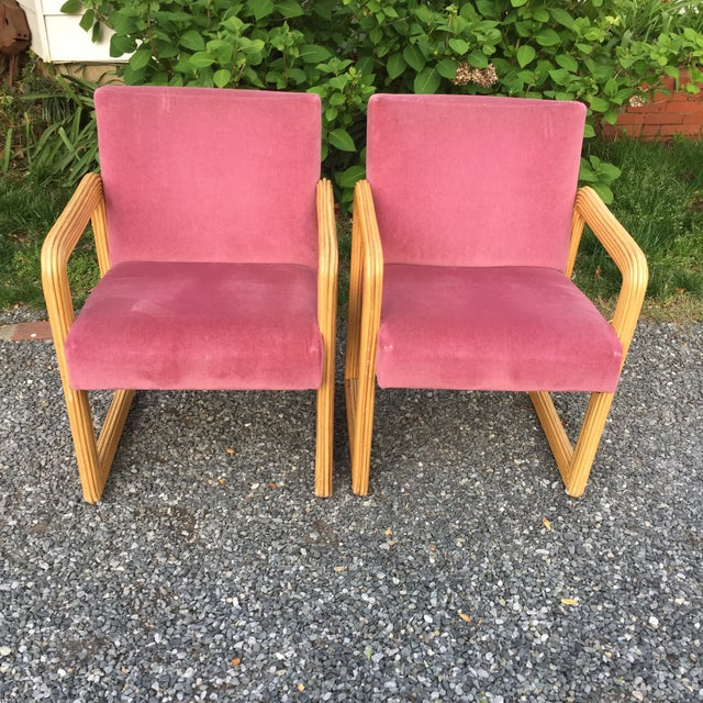 MCM Gabriella Crespu Style Pencil Reed Mauve Chairs These are so great ! Velvet is in great shape with a few stains and...
