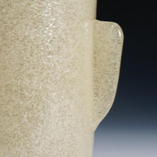a rare 'a bollicine' glass vase designed by carlo scarpa in 1932, manufactured by venini, murano venice. model number...