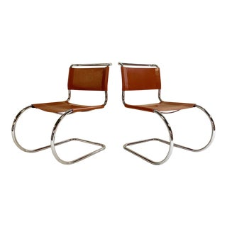 Mies Van Der Rohe Mr Chairs, Pair For Sale