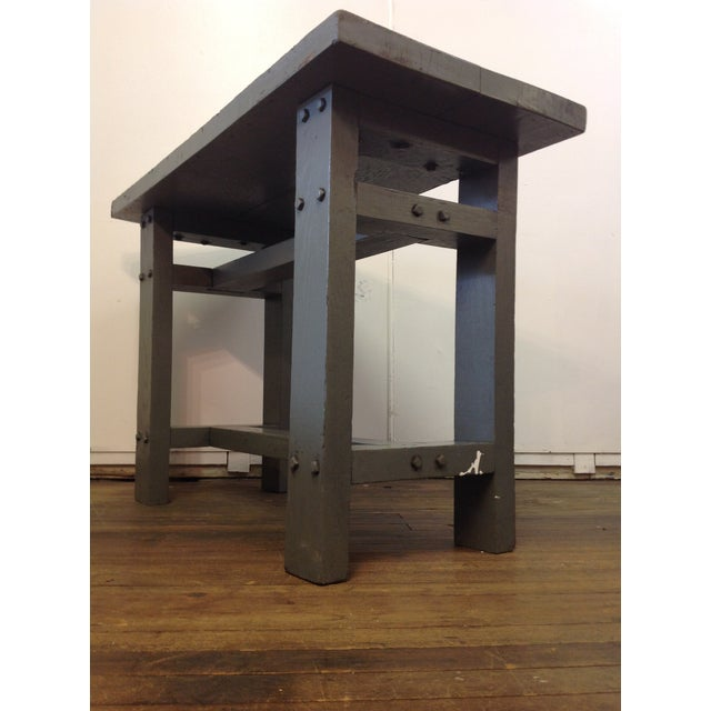 Primitive Industrial Gray Potting Table - Image 10 of 10