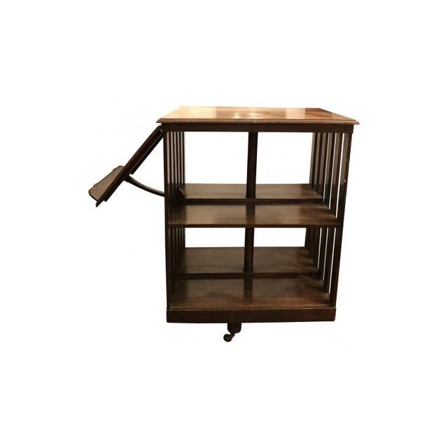 Burnt Umber 20th Century Traditional Swivel Bookcase For Sale - Image 8 of 8