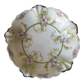 Vintage Floral Malmaison Bowl For Sale