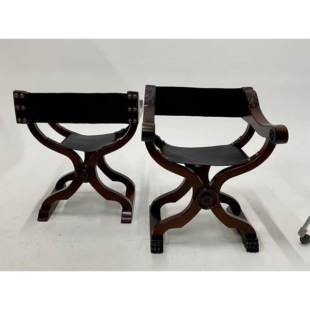 Newly Restored Italian Baroque Style Savaranola Chairs -Pair For Sale - Image 9 of 13