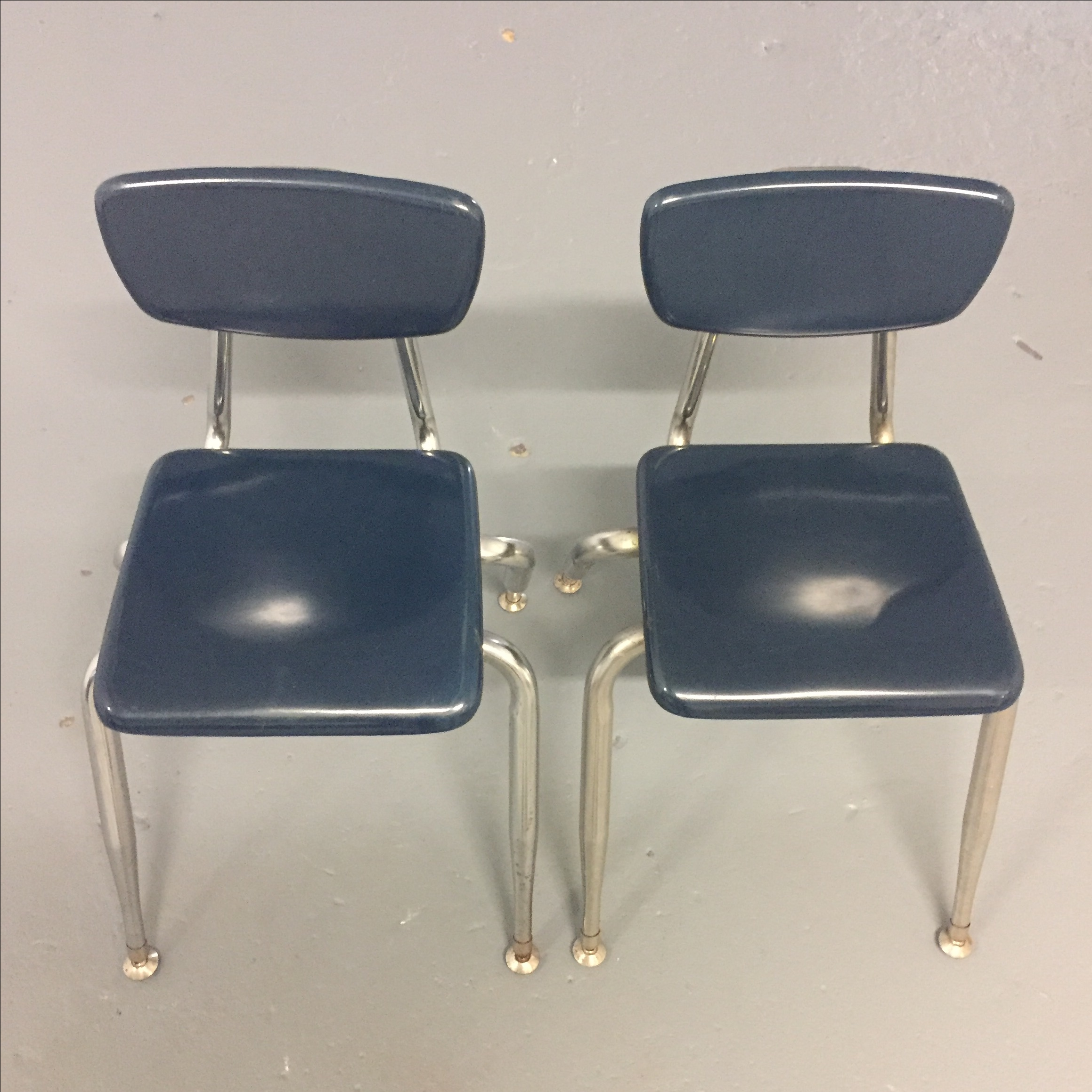 Pair Of Vintage Plastic And Chrome Childrenu0027s Chair. Very Stable And Used  In Kindergarten Previously