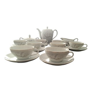 1960s Kaysons Golden Rhapsody China Tea Service - Set of 21 For Sale