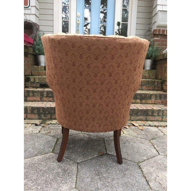 Hollywood Regency Channel Back Chair For Sale - Image 5 of 6