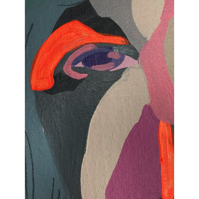 """Early 21st Century Contemporary Abstract Portrait Painting """"Hero Lady, No. 3"""" - Framed For Sale - Image 5 of 10"""