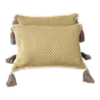 Borgata Lumbar Pillows With Tassels - a Pair
