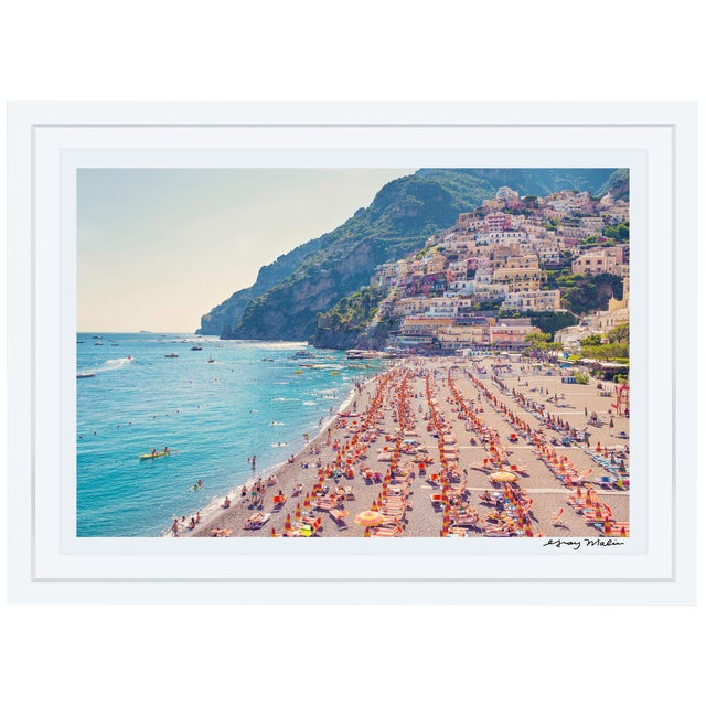 "Gray Malin Large ""Positano Beach"" (La Dolce Vita) Framed Limited Edition Signed Print - Image 1 of 4"
