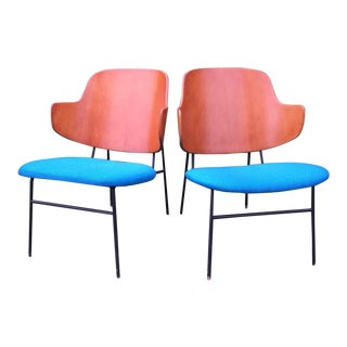 1960s Vintage Ib Kofod Larsen Penguin Chairs- a Pair For Sale