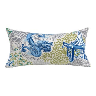 Chinoiserie Dragon Pillow Cover For Sale