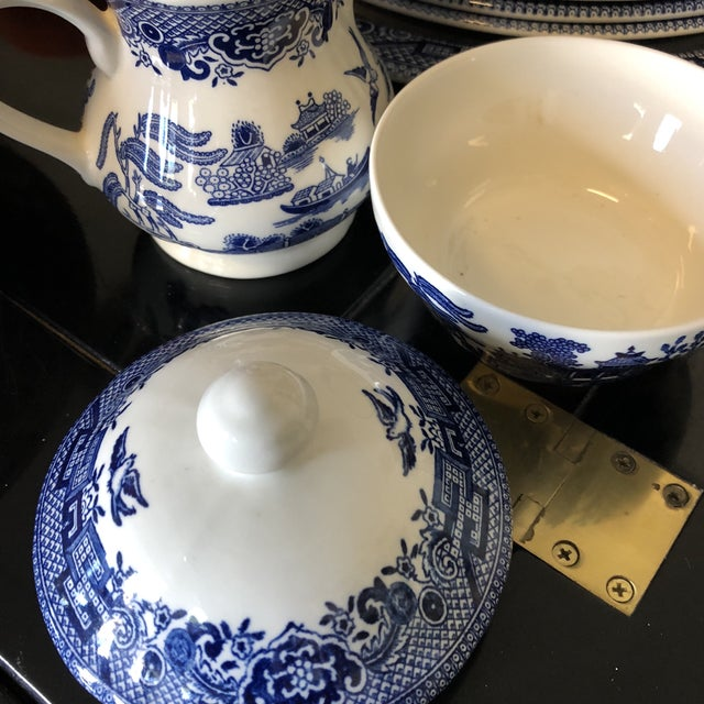 1980s Vintage Blue Willow Churchill England Serveware Collection - 36 Pieces For Sale - Image 10 of 12