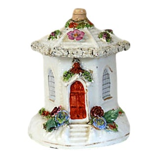 Antique English Victorian Staffordshire Incense Cottage For Sale