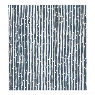 Schumacher Bamboo Wallpaper in Marine For Sale
