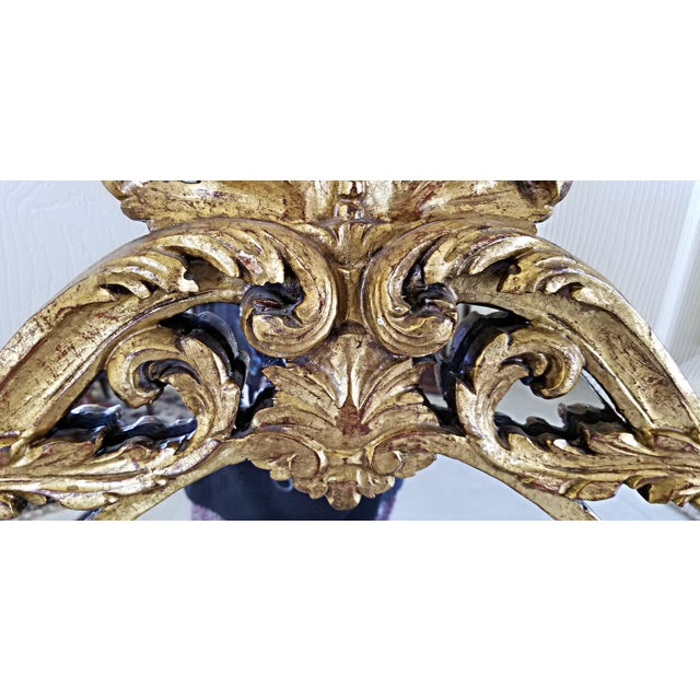 Italian Baroque Style Carved Giltwood Mirror, Mid-19th Century For Sale In West Palm - Image 6 of 11