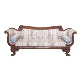 Early 21st Century Antique Federal Style Duncan Phyfe Mahogany Sofa For Sale
