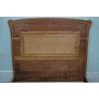 Antique French Art Nouveau Satin Wood Marquetry Inlaid Bed Preview