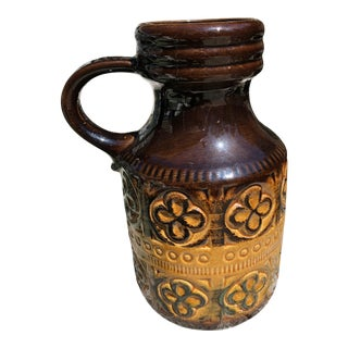Scheurich West German Pottery in Brown Foligno Pattern For Sale