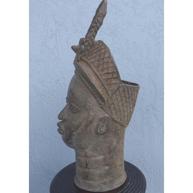 Bronze Head of an Ife Queen Mother - Image 5 of 9