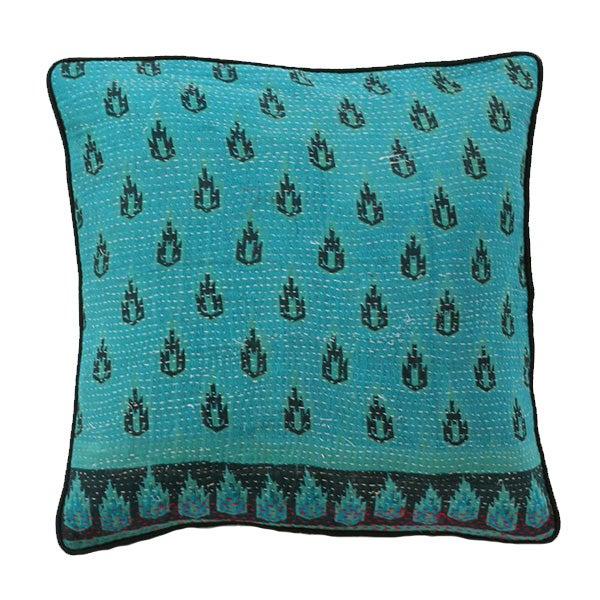 Vintage Kantha Pillow For Sale