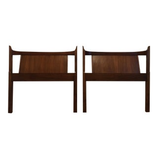 Kent Coffey Mid-Century Modern Townhouse Collection Twin Headboards - a Pair