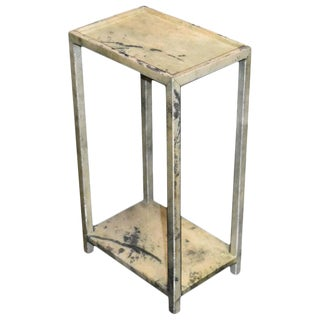 Parchment Two-Tier Side Table For Sale