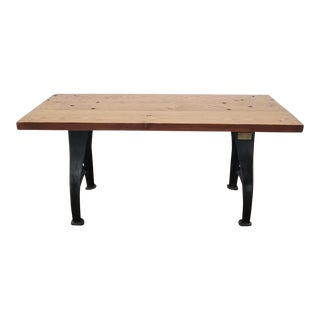 19th Century Industrial Dining Table For Sale