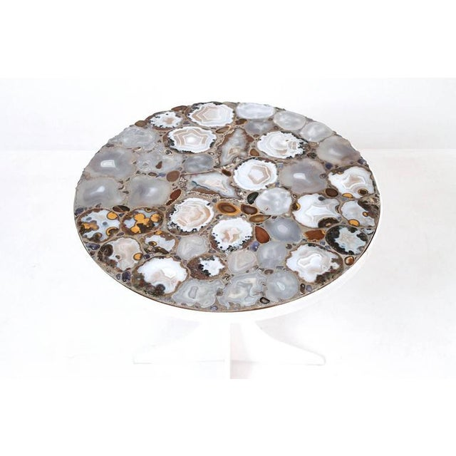 Miriam Rogers Mosaic and Acrylic Table For Sale - Image 4 of 11