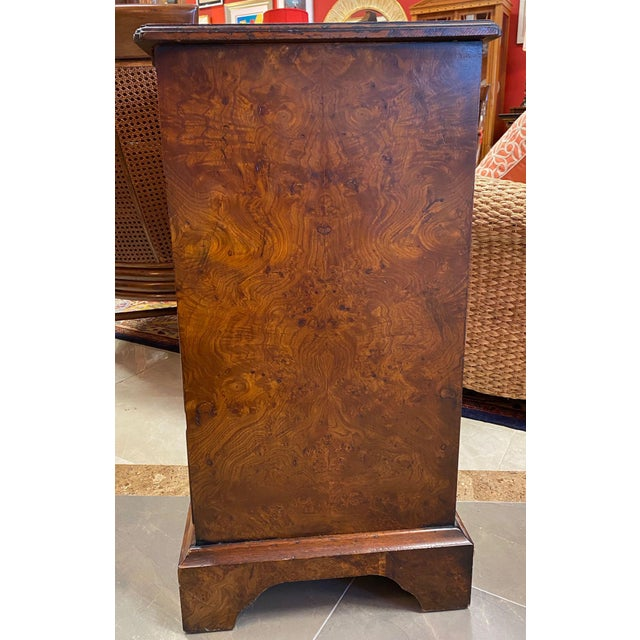 1960s Burl Veneered All Sides 4-Drawer Chest For Sale - Image 5 of 11