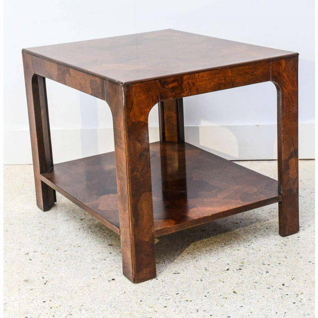 American Modern Inlaid Mixed Wood Table, American of Martinsville For Sale - Image 9 of 9