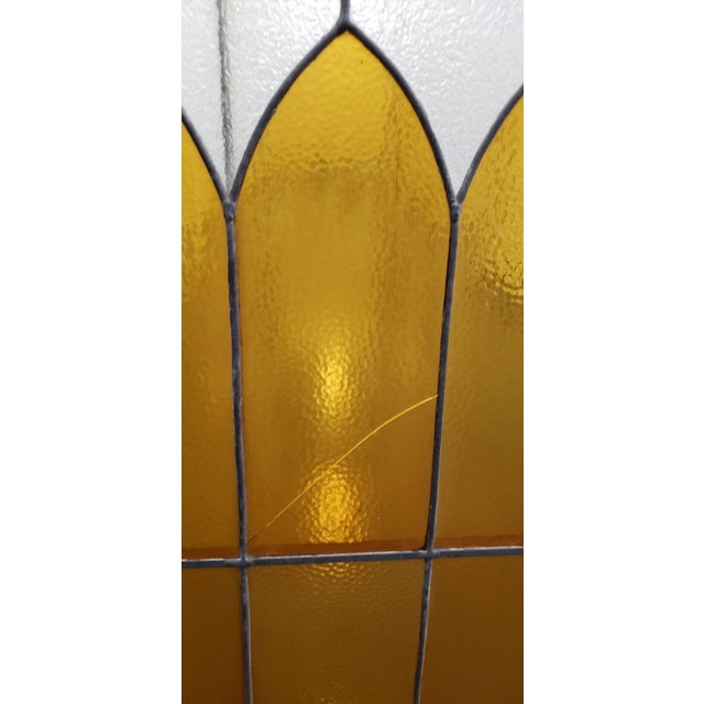Orange Large Late 19th Century Stained Glass Window Panel C.1880 For Sale - Image 8 of 12