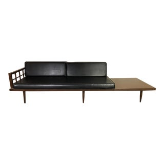 Mid Century Sofa With End Table