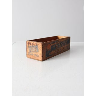 Vintage Wooden Cheese Box Preview