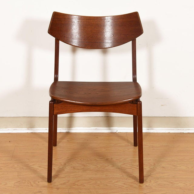 Mid 20th Century Danish Teak Curved Back Dining Chairs - Set of 4 For Sale - Image 5 of 13