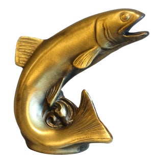 Brass Trout Fish Bottle Opener For Sale